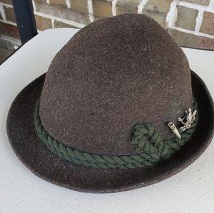 Vintage German Mayser-Milz Moss Green Hat